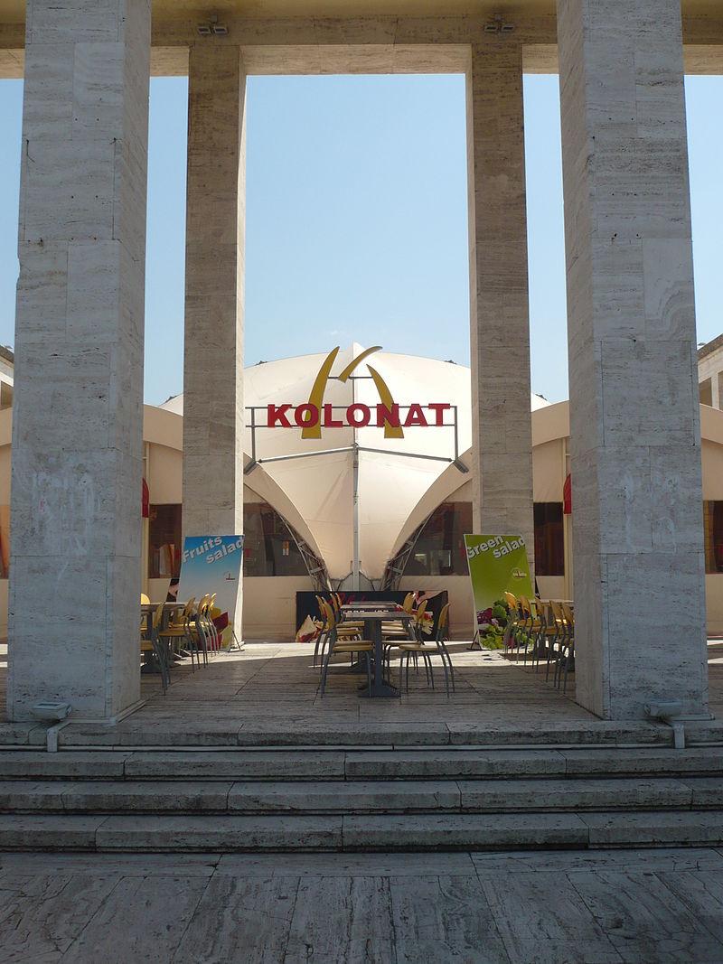 Kolonat restaurant in Tirana.JPG