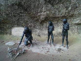 Dragutin Gorjanović-Kramberger - A display at Krapina