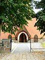 Kruszyn, kościół ewangelicki, ob. rzym.-kat. fil. p.w. św. Kazimierza, 1908 - brama wejściowa.JPG