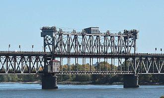 ASB Bridge - Image: Kryukov Bridge lift span in Kremenchuk, Ukraine, 2012
