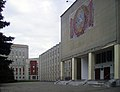 Kstovo. Near Town Hall with USSR coat of arms.jpg