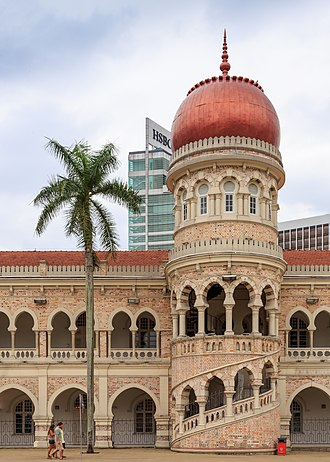 Sultan Abdul Samad Building - View of a tower of Sultan Abdul Samad Building