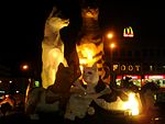 Kuching North City Hall Family Cat Statues.jpg