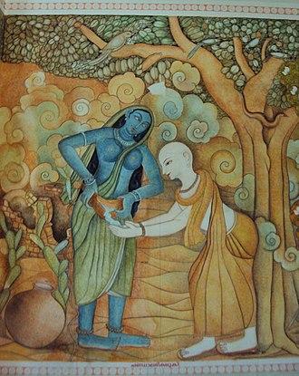 Kumaran Asan - Kumaran Asan - Chandalabhikshuki - a mural at Thonnakkal Asan Smarakam