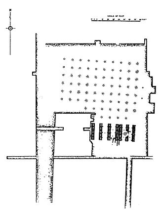 Kumhrar - Plan of the 80-columns pillared hall.