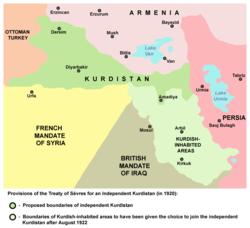 Резултат с изображение за кюрдистан севърски договор