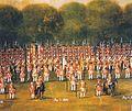 Kurhannoversches Infanterie-Regiment von Behr 1735 Revue bei Bemerode 1579x1326.jpg