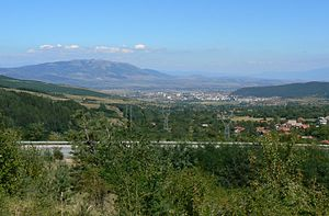 Kyustendil - Image: Kyustendil view and Konyavska mountain