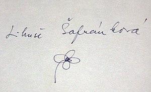 Libuše Šafránková - Autograph of Libuše Šafránková (1988)
