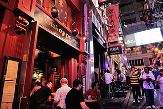 Lan Kwai Fong - The area is home to many bars catering to expats.