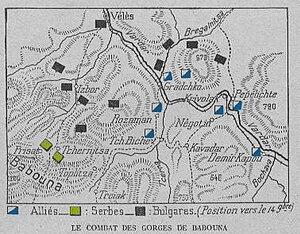 Battle of Krivolak - Battle of Krivolak, November 1915, showing the Allied advance northwards.