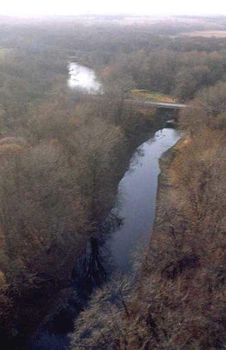 La Moine River - La Moine River in McDonough County, Illinois near Colmar, Illinois