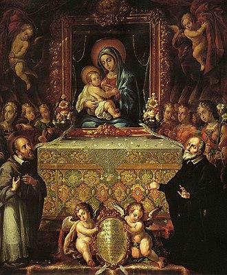 Cristóbal de Villalpando - Image: La Virgen de la escalera Cristóbal de Villalpando, (Templo de San Felipe Neri)