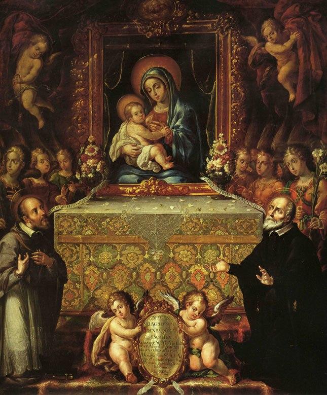 La Virgen de la escalera - Cristóbal de Villalpando, (Templo de San Felipe Neri)