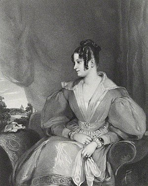 Lady Mary Fox - Lithograph of Lady Mary by Richard James Lane, published in March 1836