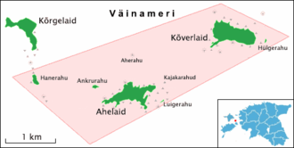Ahelaid - Ahelaid in Hiiumaa islets Landscape Protection Area's Laidelahe protection zone