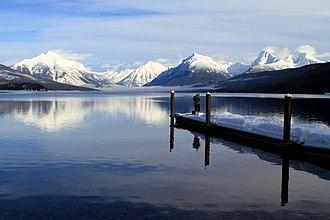 Lake McDonald - Lake McDonald in the winter