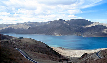 Lake Yamdroktso, Tibet Autonomous Region, China