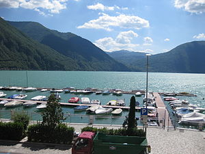 Lake Lugano - Porlezza, at the head of the lake in Italy