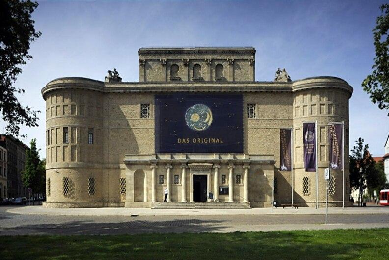 Landesmuseums für Vorgeschichte Sachsen-Anhalt in Halle - Außenansicht