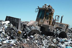 Picture of a Caterpillar 826C landfill compact...