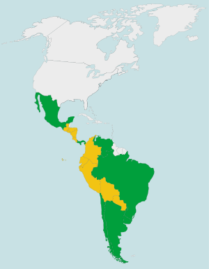 Latin American Countries by HDI (2008)