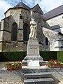 Launois-sur-Vence (Ardennes) église, et monument aux morts.JPG
