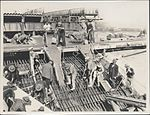Laying concrete on the Sydney Harbour Bridge, 1928 (8283765264).jpg