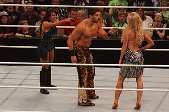 Layla El - Layla and Fandango being confronted by Summer Rae (right) on 19 May 2014