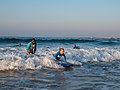 Learning to surf with Ocean Adventures, Durban beach front. KwaZulu Natal, South Africa (20519571391).jpg