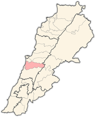 Aley District - Image: Lebanon districts Aley