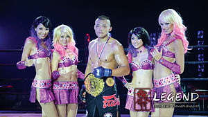 Legend Fighting Championship - China's Liu Wenbo winning the Legend FC Middleweight Championship at Legend FC 10
