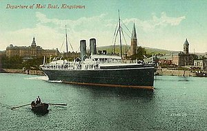 Postcard of RMS Leinster