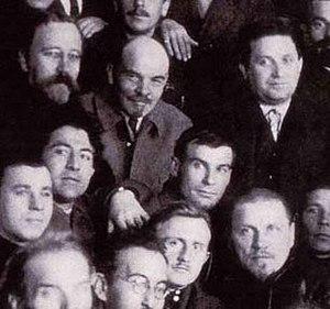 Andrey Vyshinsky - Andrei Yanuarevich Vyshinsky (bottom right of Lenin), 1922. Kamenev, Lenin, Zinoviev, party congress
