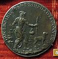 Leone leoni, medaglia di bronzo di michelangelo buonarroti, verso.JPG