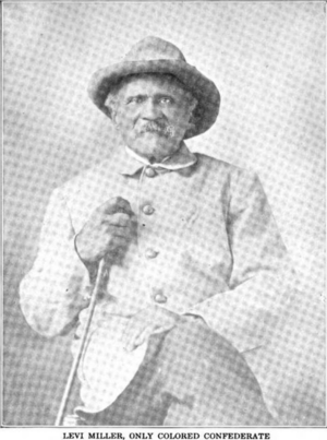 Texas Brigade - Levi Miller, servant during the war for Captain McBride of Company E, 5th Texas