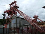 Former Lewis Merthyr Colliery Bertie pithead, headframe, tram circuit and tippler