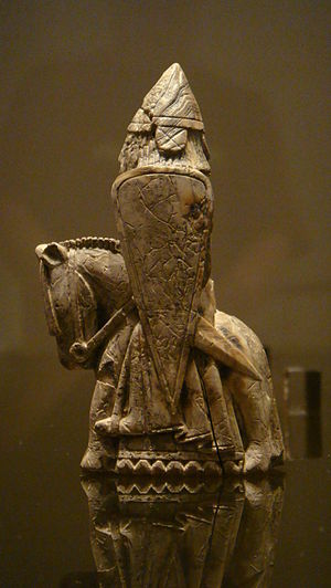 Guðrøðr Óláfsson - A knight gaming piece of the so-called Lewis chessmen.