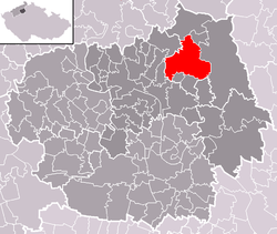 Location of Liběšice