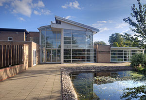 Staffordshire University - The main entrance to the Lichfield Campus building
