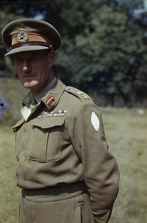 I Corps (United Kingdom) - Lieutenant General John Crocker, pictured here in August 1944.