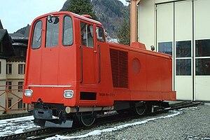 Montreux–Glion–Rochers-de-Naye Railway - MTGN No.4, the line's diesel locomotive at Glion