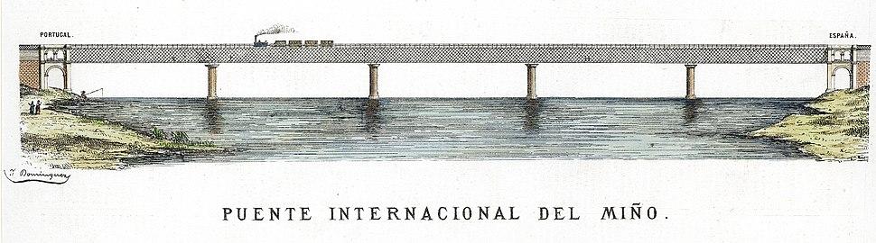 Litrografia da Ponte Vella Internacional do Miño II