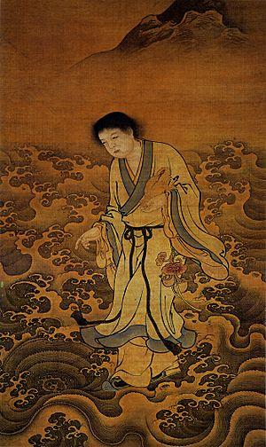Sennin - Liu Hai carrying a Chan Chu (three legged toad)