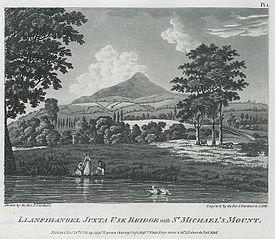 Llanfihangel Juxta Usk Bridge with St. Michael's Mount