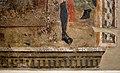 Lo scheggia, martirio di san sebastiano, 1456-57, con l'aggiunta di un santo nel xvi-xvii secolo 03 firma.jpg