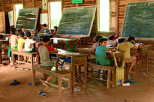 Hsipaw - Image: Local school Hsipaw