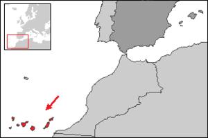 Situacion de Canarias respecto a Espana