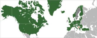 Montenegro–NATO relations - Image: Location NATO Montenegro