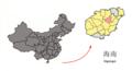 Location of Tunchang within Hainan (China).png